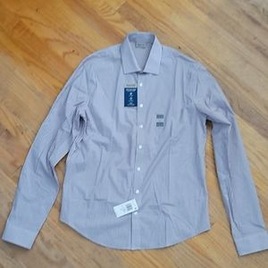 NWT Kenneth Cole Size 16 -16.5 Button Up
